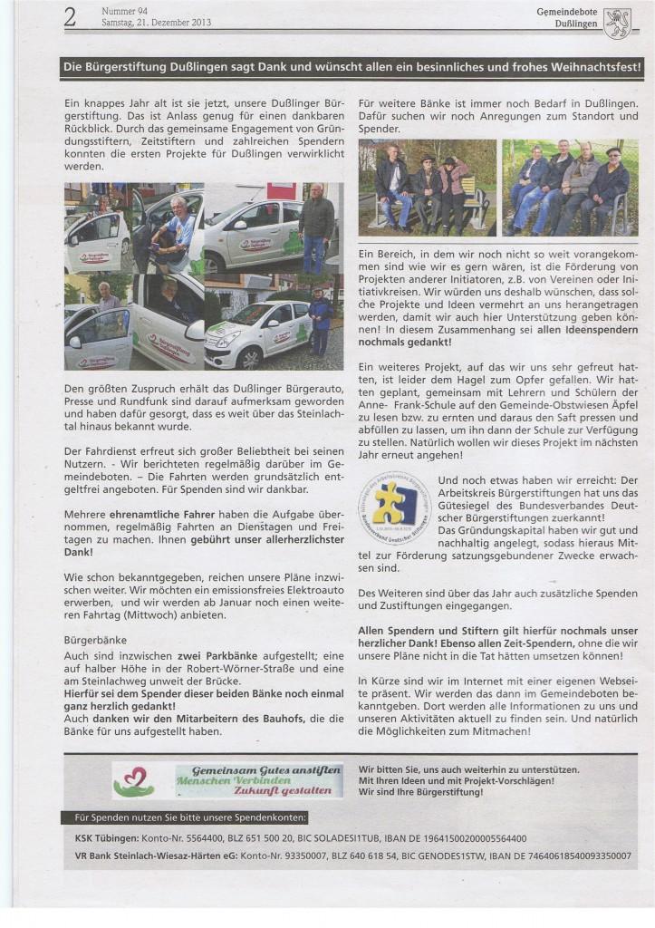 Gemeindeboten 94 / 2013