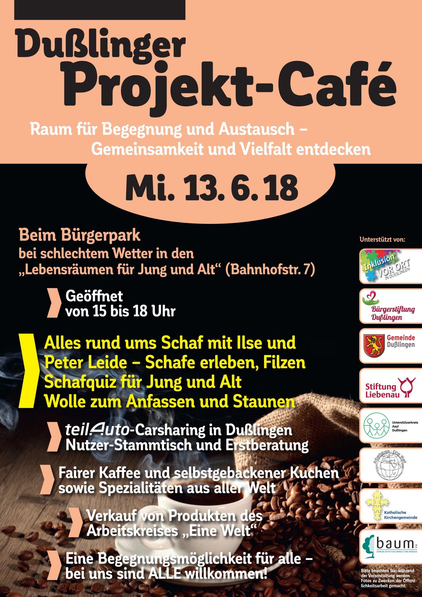 Projekt Cafe Thema Schaf Burgerstiftung Dusslingen