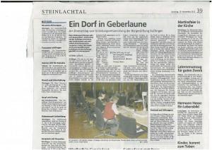 Schwäb Tagblatt 10.11.2012