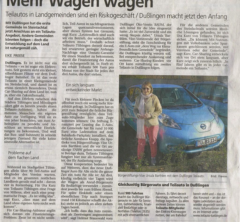 artikel tagblatt freese 8.11.14